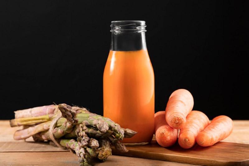 Nước ép măng tây cà rốt
