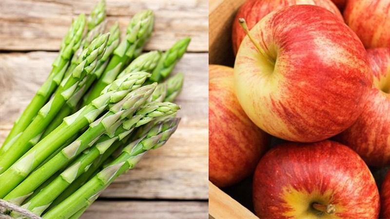 Nước ép măng tây và táo