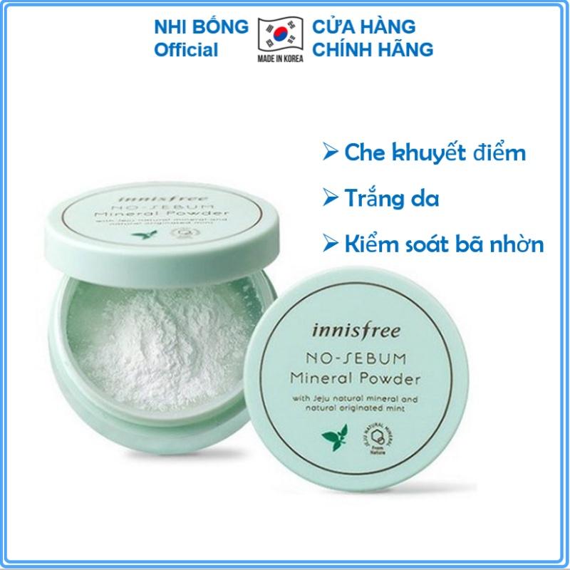 Phấn phủ kiềm dầu dạng bột innisfree No Sebum Mineral Powder 5g