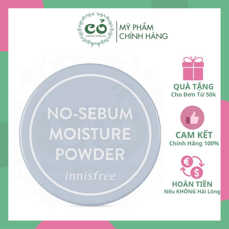 Phấn phủ kiềm dầu & dưỡng ẩm dạng bột innisfree No Sebum Moisture Powder 5g