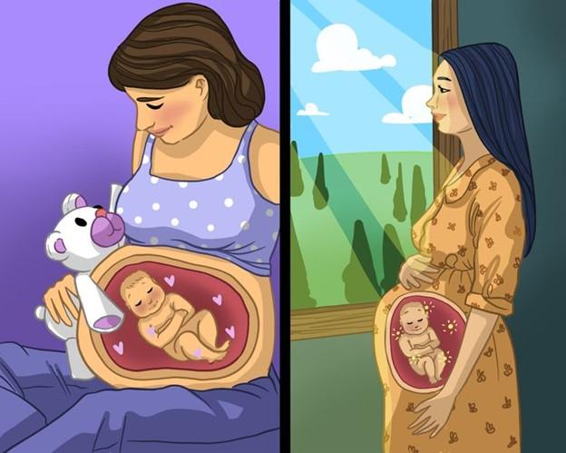 Phương pháp dạy em bé cảm nhận mọi thứ khi còn trong bụng mẹ