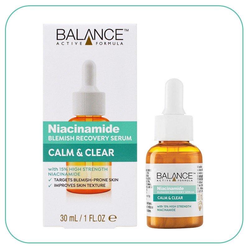 Serum ngăn ngừa mụn mờ thâm Balance Active Formula Niacinamide 15% Blemish Recovery