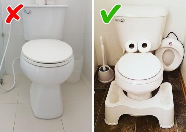 Sử dụng bồn vệ sinh không đúng cách