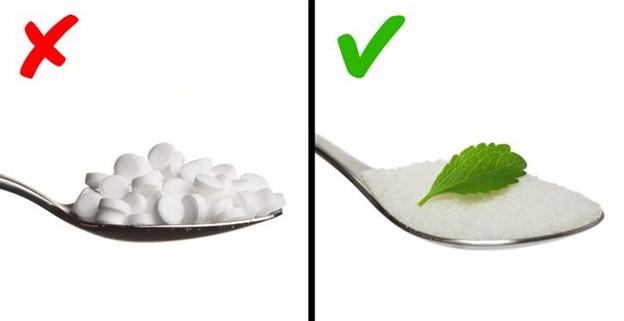 Thay thế đường bằng chất làm ngọt nhân tạo