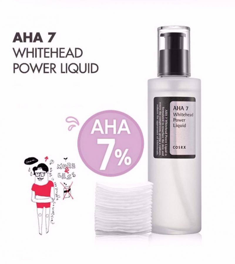 Tinh chất dưỡng chăm sóc da mụn COSRX AHA 7 WHITEHEAD POWER LIQUID