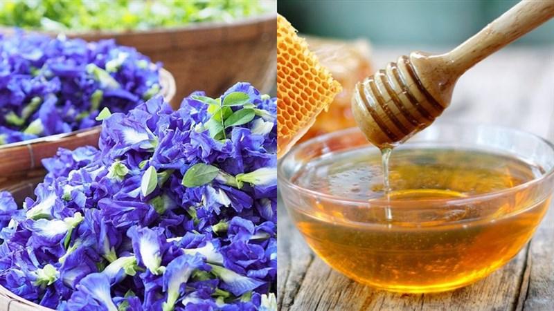Trà hoa đậu biếc mật ong