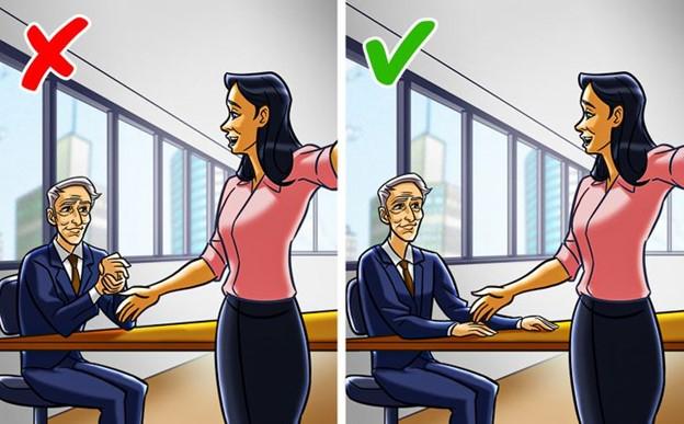 Xoa tay vào nhau khi tham gia 1 cuộc họp kinh doanh
